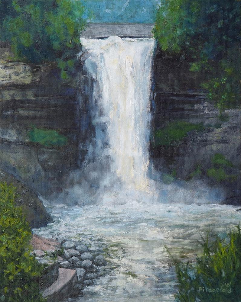 abbey fitzgerald minnehaha falls painting 001