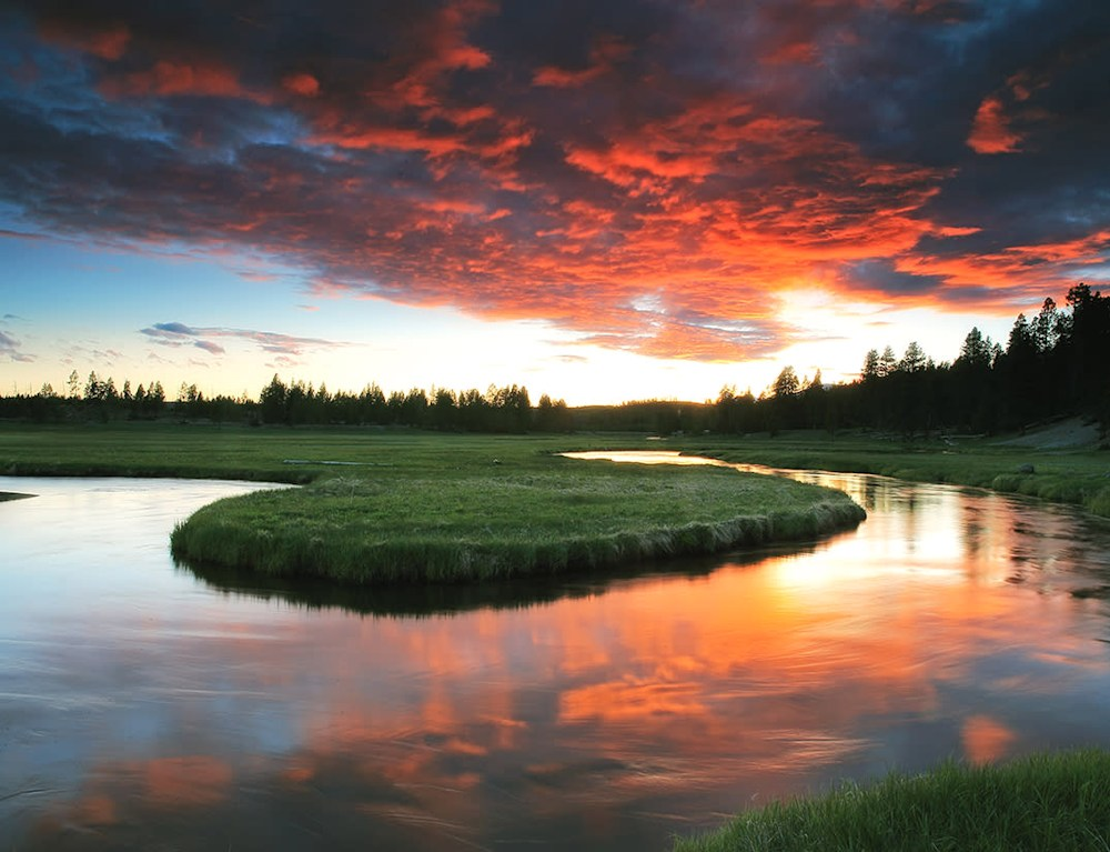July Gibbon River Bend