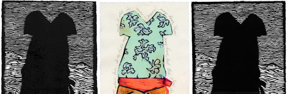 triptych Billie's dress detail 1