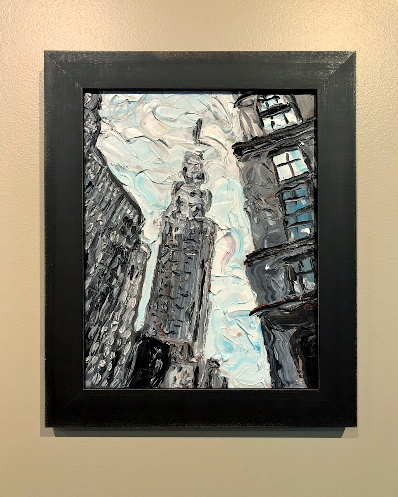 Fog on Empire State Building Framed Art