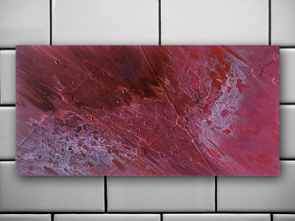 Crimson Tide fluid acrylic painting