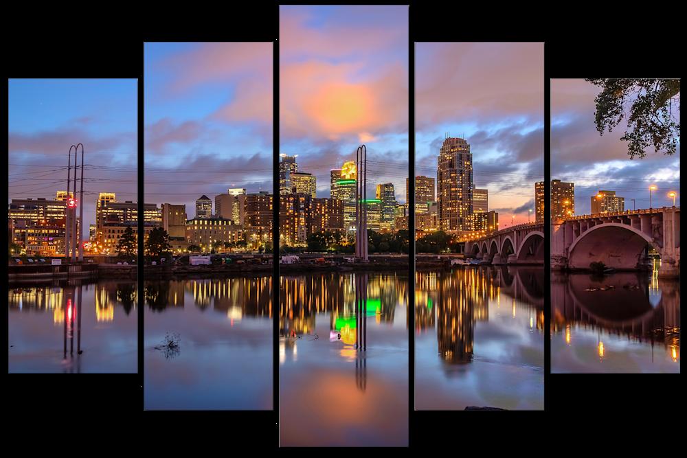 Minneapolis Reflection Dusk