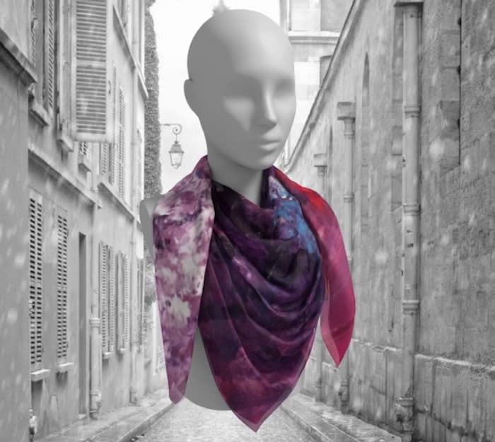 Rhythm's dance scarf paris background