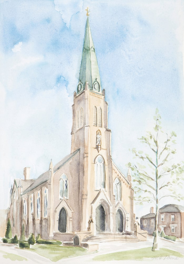 St Rose Church print small