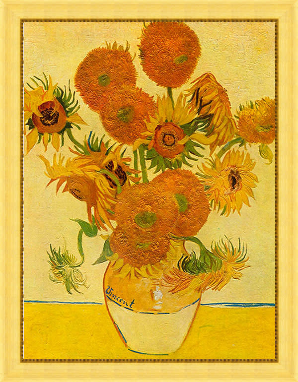 Still life with sunflowers by Van Gogh frame