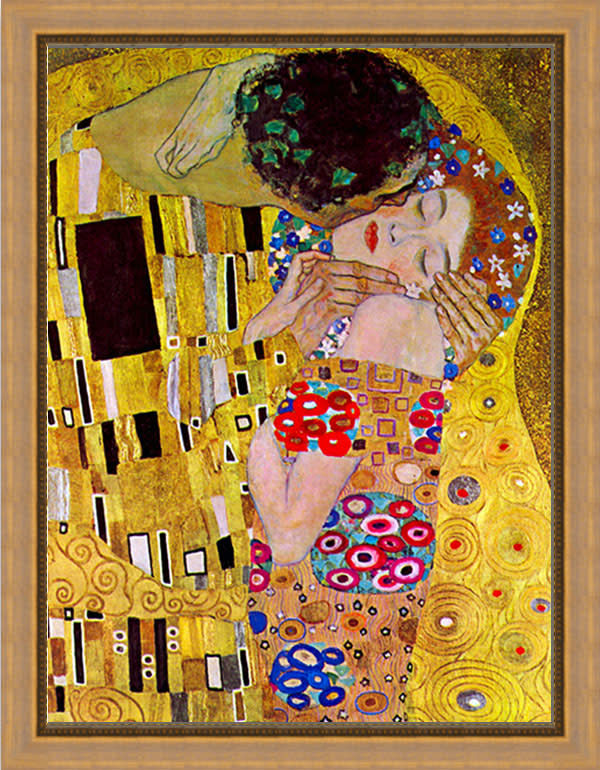 The Kiss by Klimt FRAMED