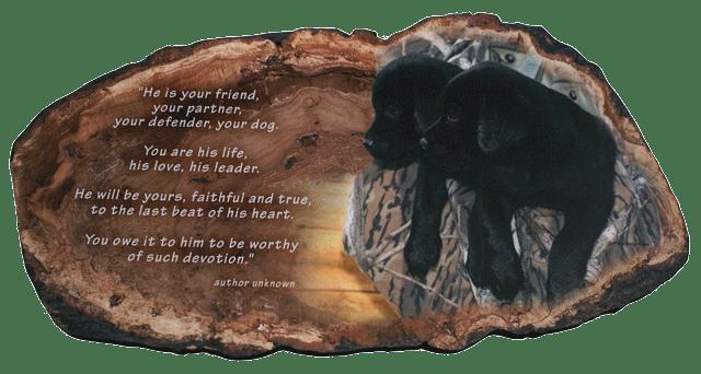 black lab w poem