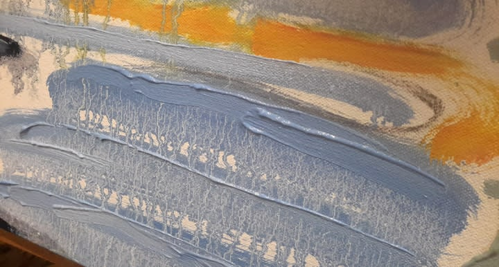detail   blue strokes