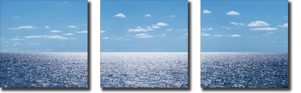 Glistening Lake Michigan Triptych