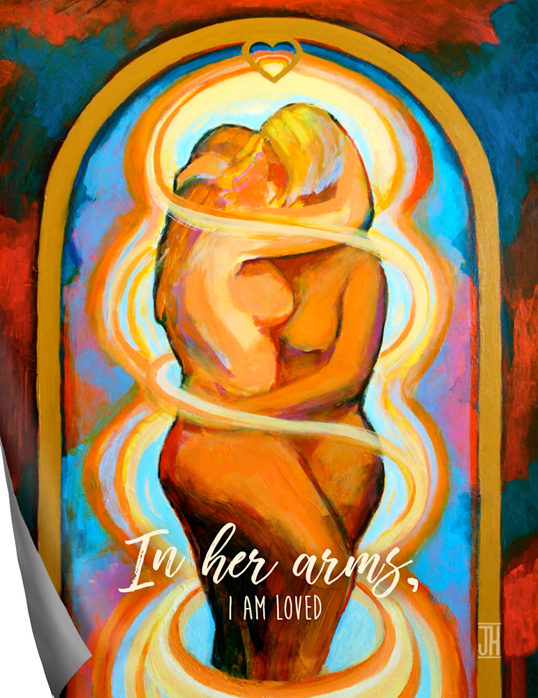 In Her Arms affirmation magnet