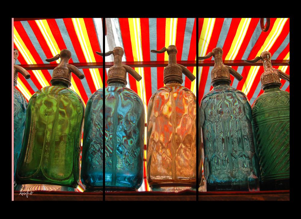 triptych seltzer bottles