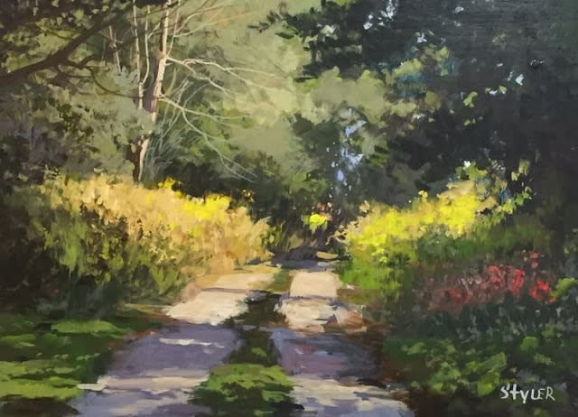 Sunny Path 12x16 Acrylic