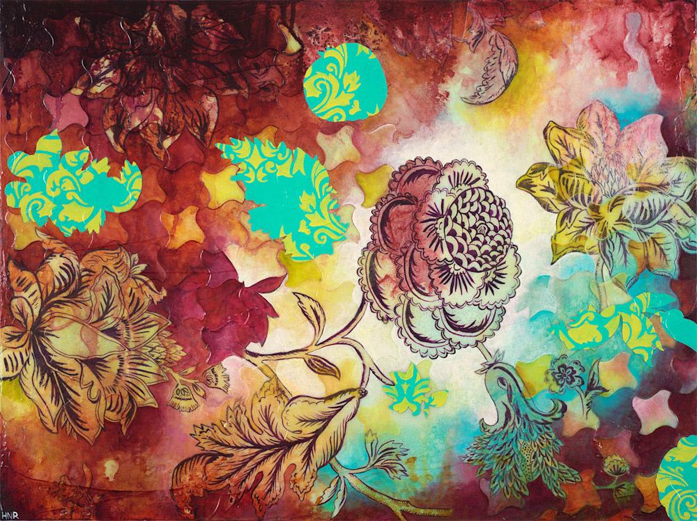 houndstooth floral1