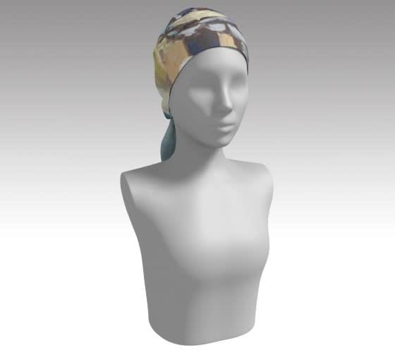delicate rain scarf head