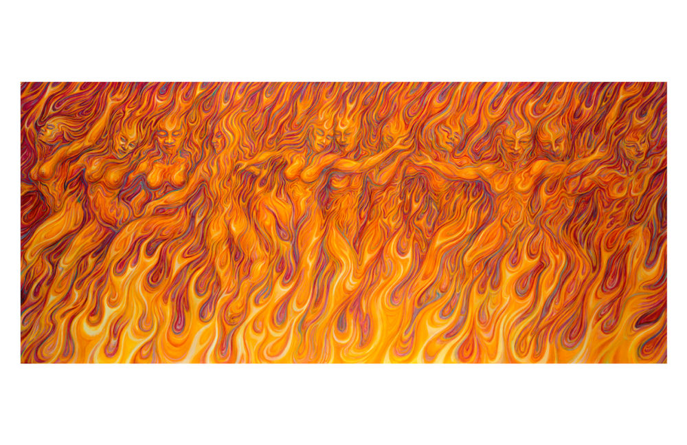 Flames of Passion notecard