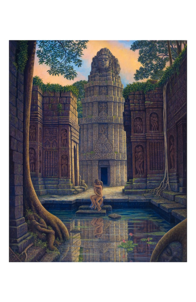 Temple steps notecard