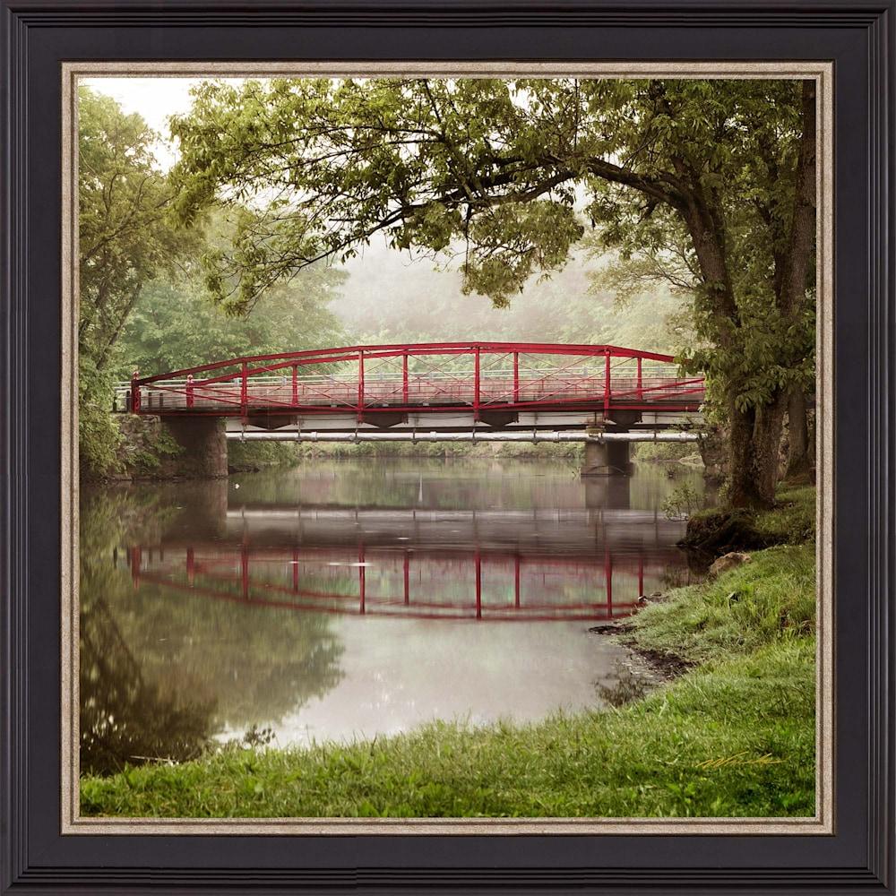 Red Bridge Summer Framed WEB