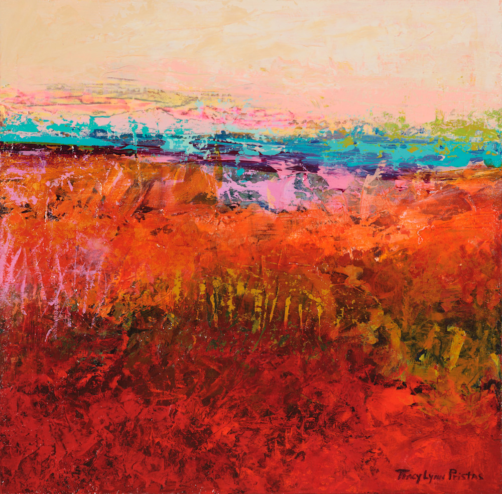 Tracy Lynn Pristas Abstract Landscape Paintings  Southwestern Art Dream Enclosure