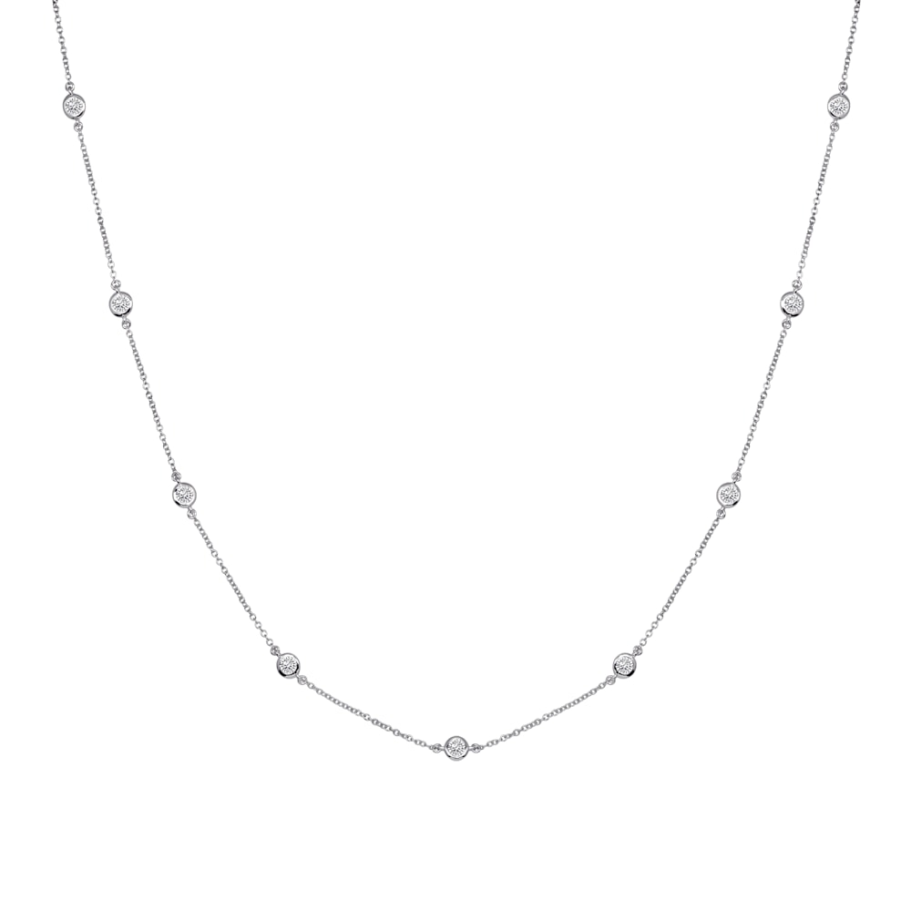 Sterling Silver Short Floating Necklace G100015 SVR a 210000000355