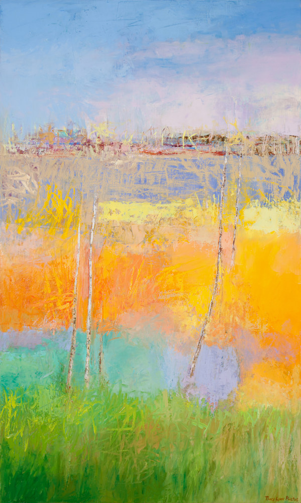 Tracy Lynn Pristas Abstract Landscape Paintings For Sale Online 60h x 36w Woven Whispers