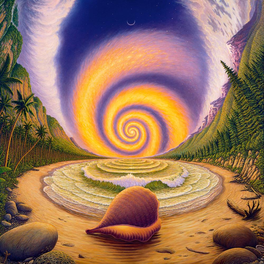 Snail Logic original oil painting
