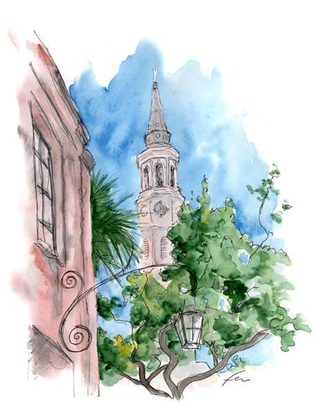 Church Street Watercolor