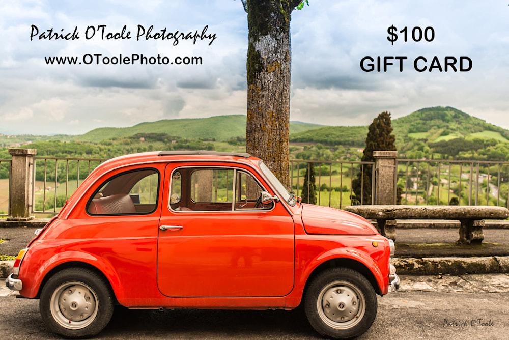 OToolePhoto 2 3 giftcard$100
