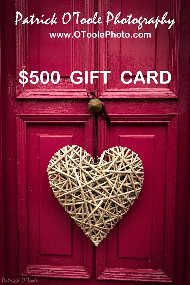 OToolePhoto 157 giftcard$500