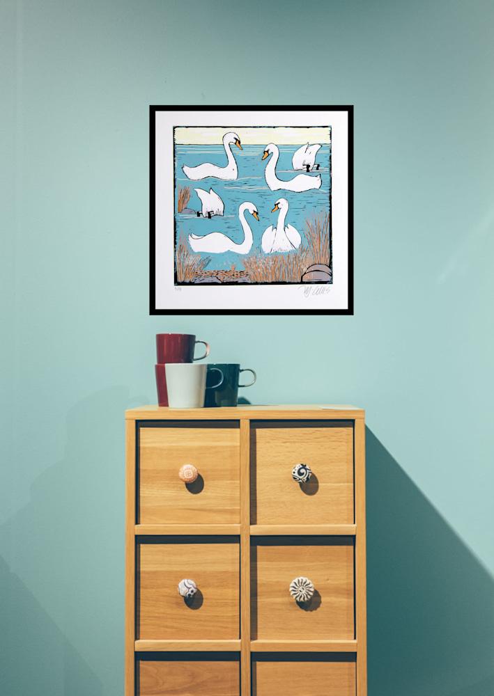 swans morning, interior