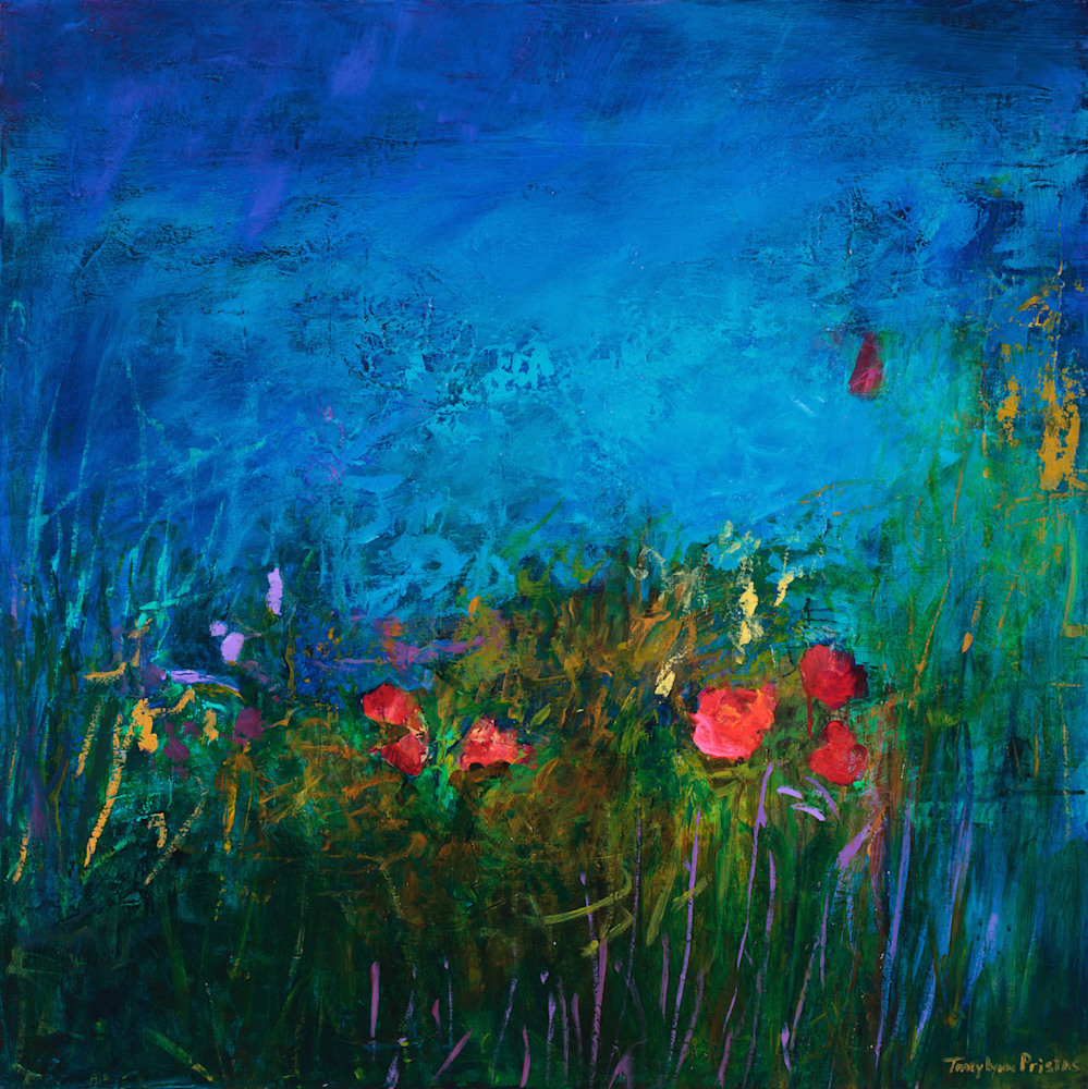 Tracy Lynn Pristas Original Paintings SOLD Kissed Enchantment 30 x 30