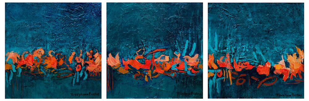 Tracy Lynn Pristas Original Triptych Windswept Weaver