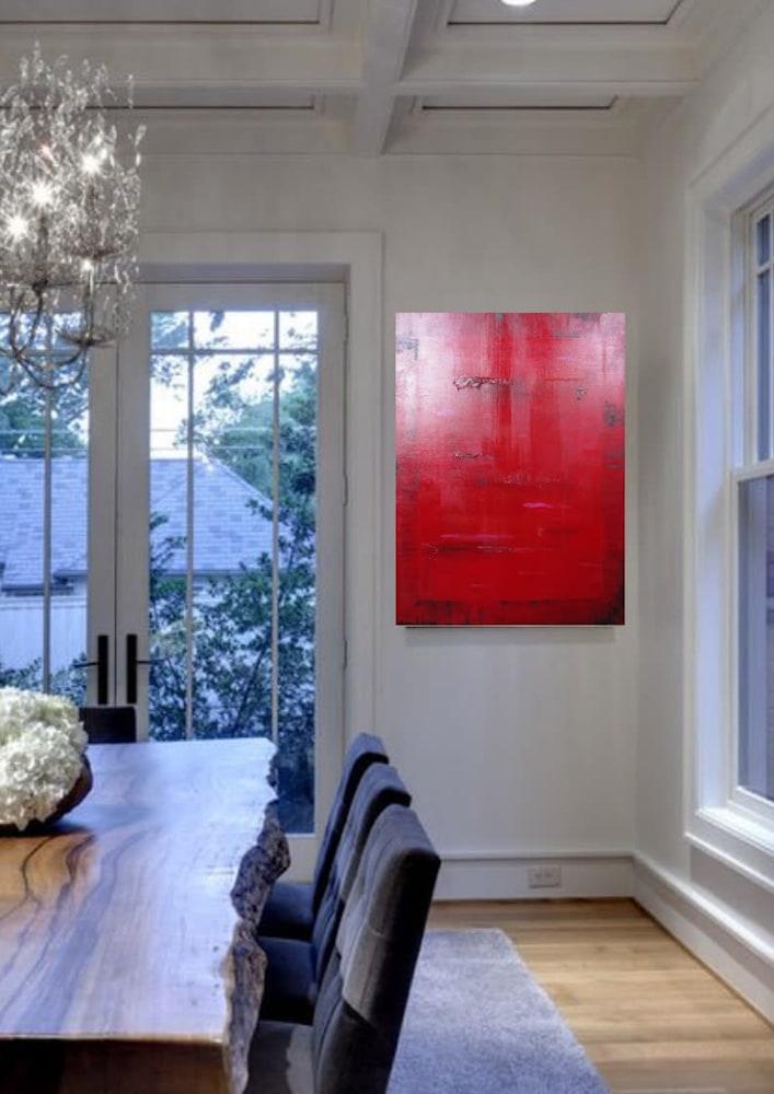 Zen Red staged Lesley Koenig