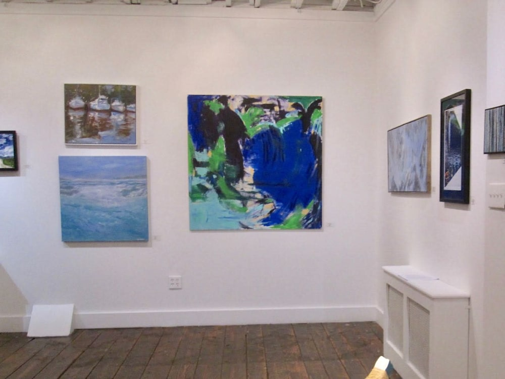Blue Contemplations Ridgefield guild of Artists Juried Exhibition 2014 Lesley Koenig