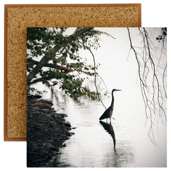 Standing Heron Photo Tile