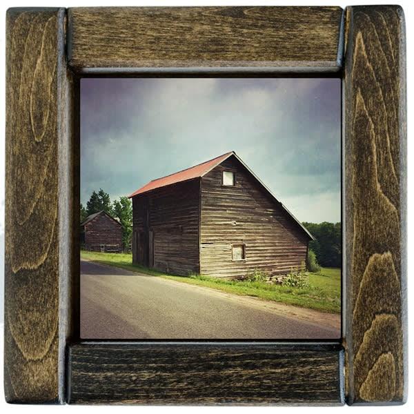 Saltbox Barn in Summer Framed