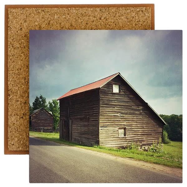 Saltbox Barn in Summer Photo Tile