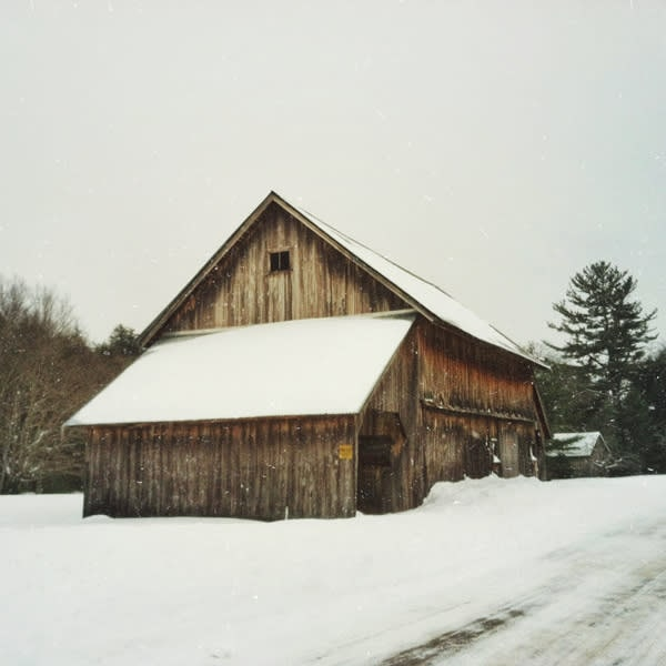 Catskill Winter Barn Image