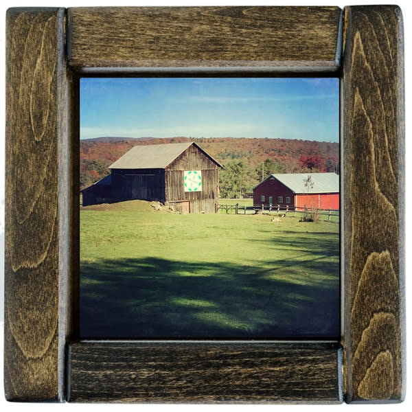 Autumn Barn Quilt Barn Framed