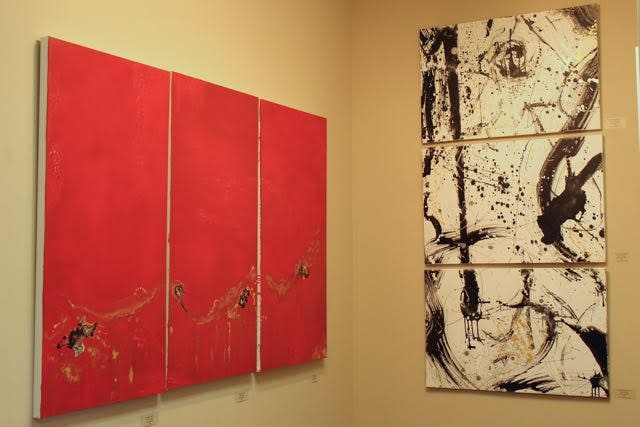 Red Triptych and Pluses and Minuses at Rockwell 2