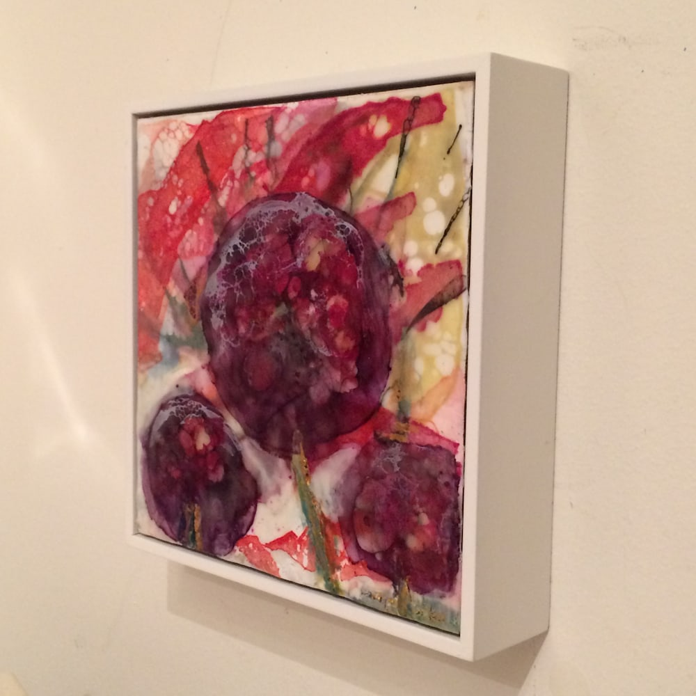 Love Conquers 9, side, Encaustic Wax and Mixed Media on Panel, 6x6JPG