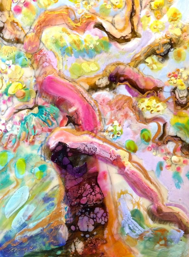 Tree of Life 2, Encaustic wax, 22x16cm