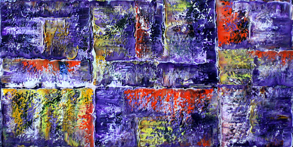 Rock Me In Purple Abstract Painting