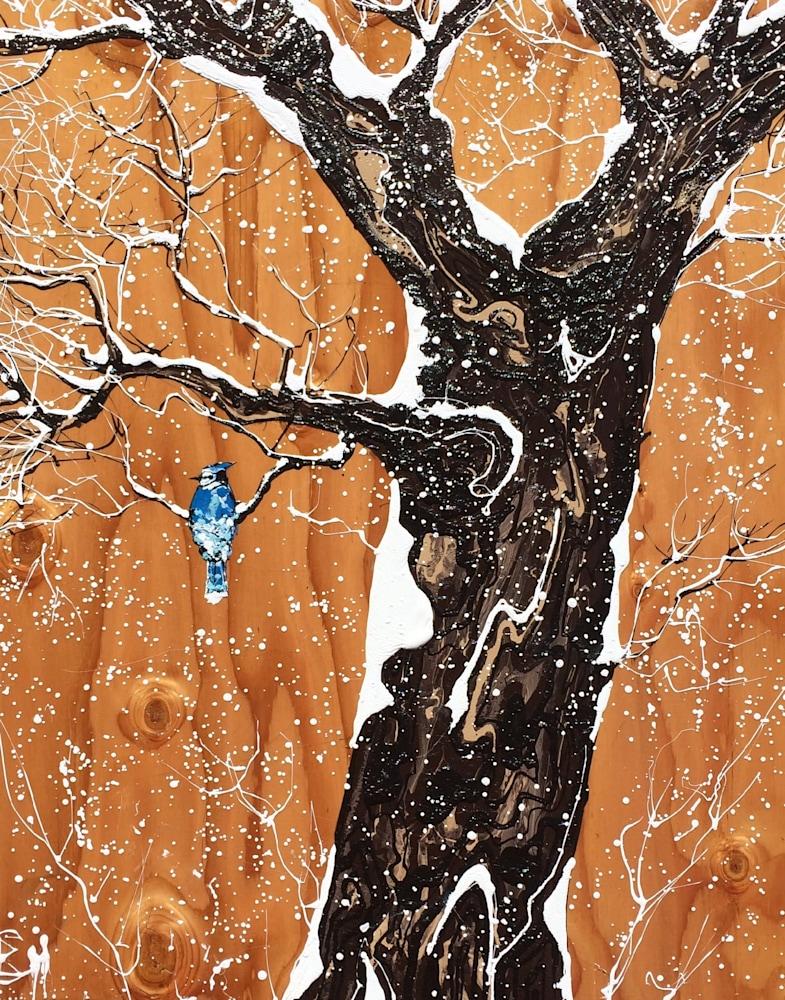 Blue Jay in Winter 24x30