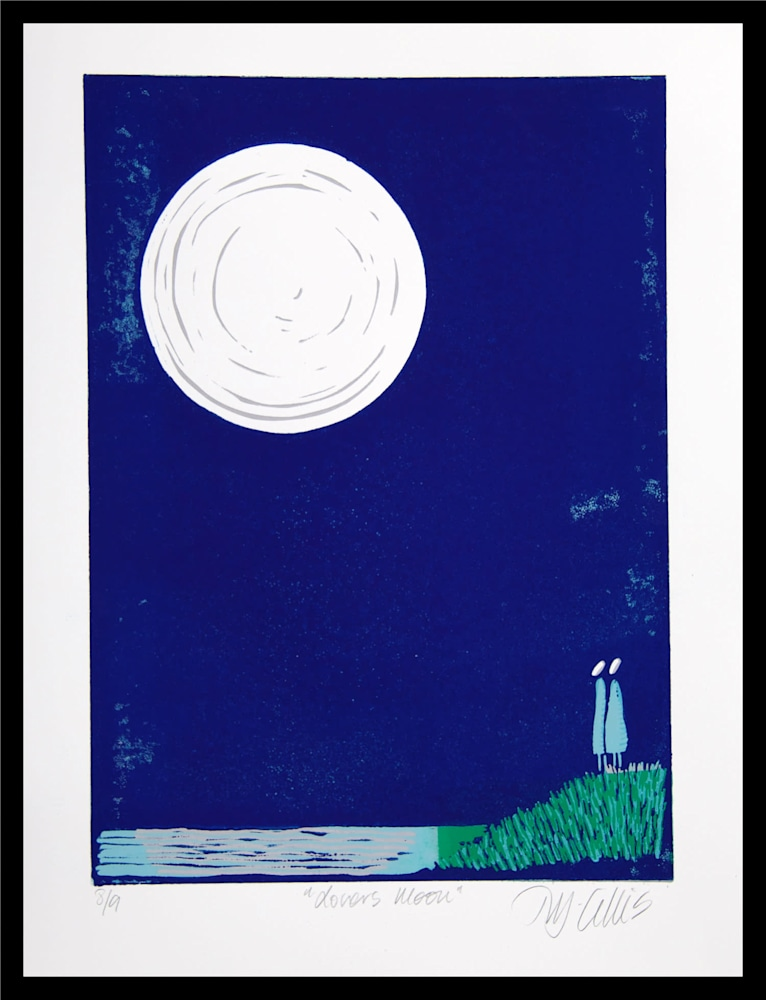 Lovers Moon framed
