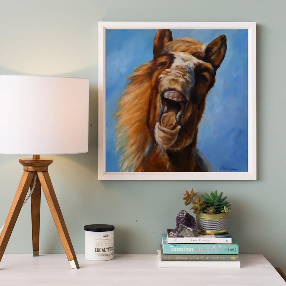 Horse Laugh 16x16