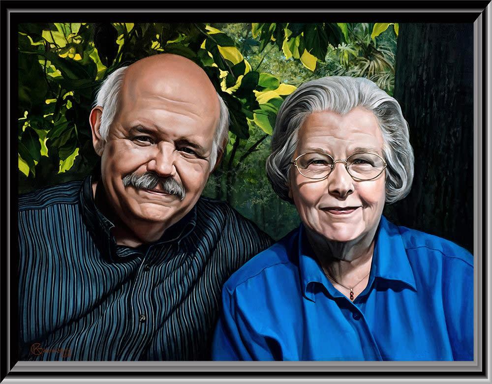 Linda and Ferdinand framed