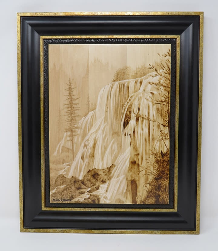 Waterfall with frame