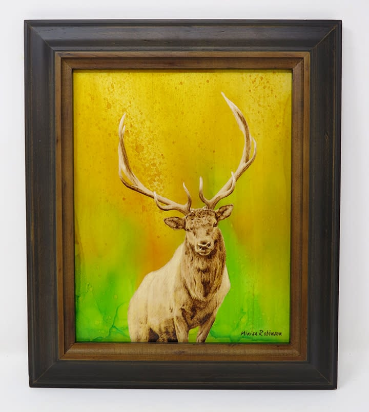 Elk with color  frame