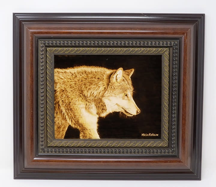 wolf other with frame