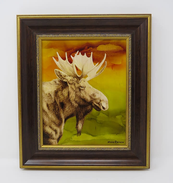 moose with frame